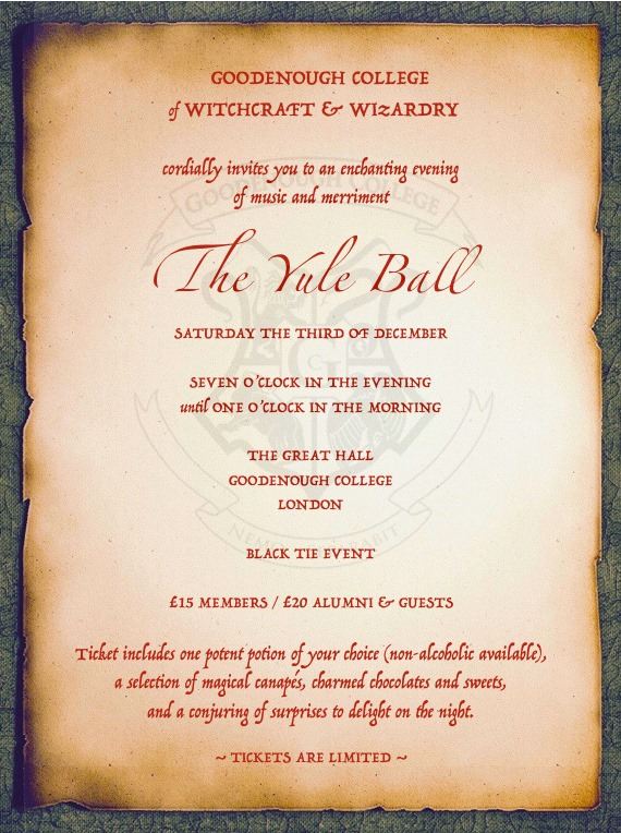The Hogwarts Yule Ball Square